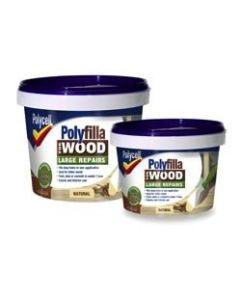 Polycell Polyfilla Wood Filler Lge/Rep Natural Tub 2X250g