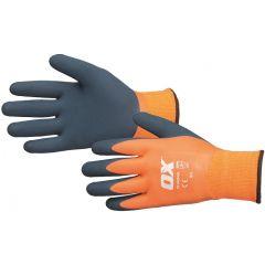 OX Foam Thermal Glove 100% Waterproof (Orange) Size 10 - S483910