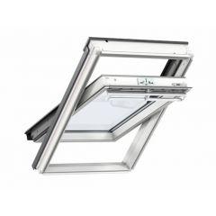 Velux GGL CK04 2070 Centre Pivot Roof Window White Painted 55x98cm