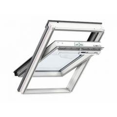 Velux Conservation Centre Pivot White Painted Window + EDW Flashing 550 x 980mm GGL CK04 SD5W2
