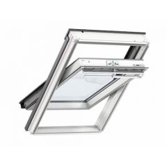 Velux Conservation Centre Pivot White Painted Window + EDJ Flashing 550 x 980mm GGL CK04 SD5J2