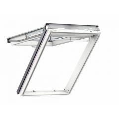 Velux White Polyurethane Top Hung Roof Window 55x98cm