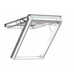 Velux Integra Electric White Polyurethane Top Hung Roof Window 66x118cm