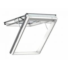 Velux Integra Electric White Polyurethane Top Hung Roof Window 78x118cm