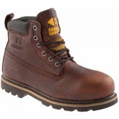 Buckler Safety Boot Dark Brown Leather Lace Up B750SMWPWG