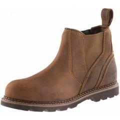 Buckler Safety Dealer Work Boots Waxed Brown Mens Steel Toe B1555SM