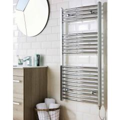 Curved Towel Rail Chrome Plated 22mm 1200x500mm