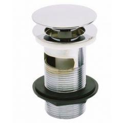 "Mushroom Spring Plug Basin Waste Slotted Brushed Nickel 1.1/4"" - 203314"