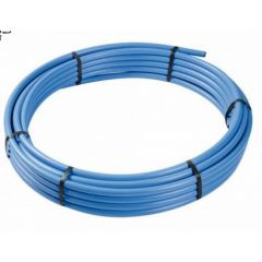 25mm MDPE Water Service Pipe Blue 150m Coil