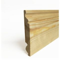 Lm 25x150mm Dual Softwood Skirting Torus/Ogee fin sizes 20x144mm