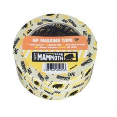 Mammoth Value General Purpose Masking Tape 25mmx50m 2maskval25