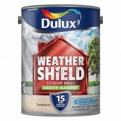Dulux Weathershield Smooth Masonry Paint 5L-Gardenia