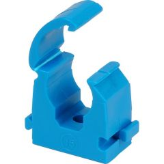 Talon Single Hinged Pipe Clip for MDPE Pipe Blue 25-27.4mm (Bag of 20) - TMS25