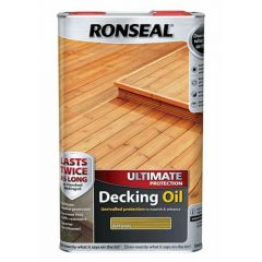 Ronseal Ultimate Protection Decking Oil 5 Litres Natural Pine