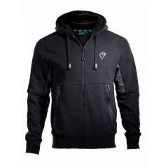 OX Zip Through Hoodie Black/Grey
