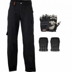 Scruffs Worker Trouser Box Set - Box Set Includes Gloves & Kneepads