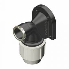 """Plasson Wall Plate Elbow (PP) 20mm x 1/2"""" - 7750C10"""