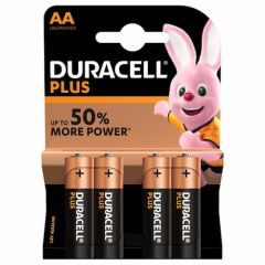 Duracell Plus AA MN1500 Batteries (4 pack)