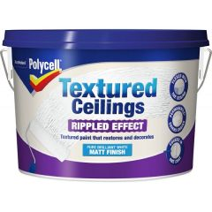 Polycell Textured Ceilings 2.5L-Ripple Effect Matt