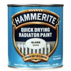 Hammerite Quick Drying Radiator Enamel - White-500ml-Satin