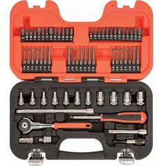 "Bahco 65-piece 1/4"" Square Drive Swivel Socket Set   - BAHSW65"