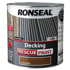 Ronseal Decking Rescue Paint Chestnut 5L - 37616