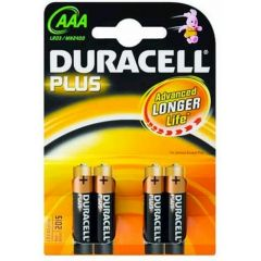 Duracell Plus AAA MN2400 Batteries (4 pack)