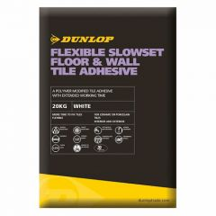 Dunlop Flexible Slowset Floor & Wall Adhesive White 20kg - 25782