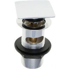 "1.1/4"" Chrome Square Plug Slotted Basin Clicker Waste (202182)"