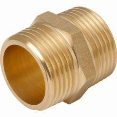 """Brass Hexagon Nipple 1/4"""""""