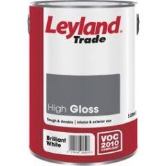 Leyland Trade High Gloss Paint 750ml Brilliant White