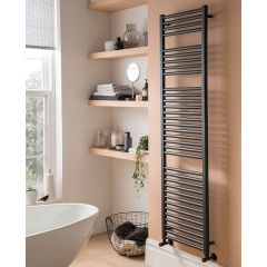 Straight Towel Rail Anthracite 1200 x 500