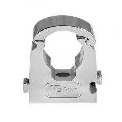 Talon Single Hinged Pipe Clip Chrome 15mm (Bag of 10) - TS15CP