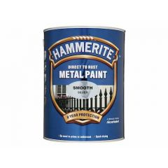 Hammerite Metal Paint, Smooth Finish, Silver, 5L