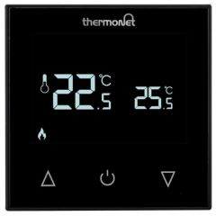 Comfortzone Thermotouch Black Glass Manual Thermostat - 5216