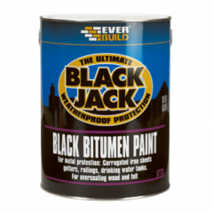 Everbuild 901 Black Bitumen Paint 5L