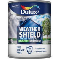 Dulux Weathershield Quick Dry Undercoat Pure Brilliant White  750ml
