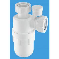 "McAlpine C10V Anti Syphon Bottle Trap 1.1/2"" x 75mm Seal (Silentrap)"