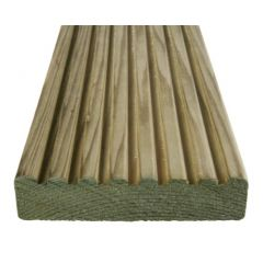 Dual Sided Tanalised Decking 32x125mm Green 4.2m