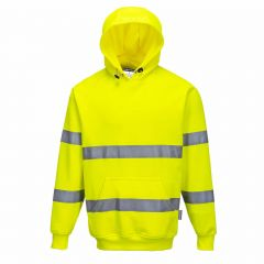 TPPW180P-1-Portwest-Hi-Vis-Hoodie-Yellow