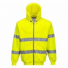 TPPW186P-1-Portwest-Hi-Vis-Hoodie-Yellow