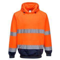 TPPW193P-1-Portwest-Hi-Vis-Hoodie-Orange/Navy