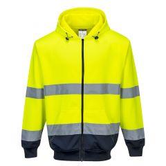 TPPW198P-1-Portwest-Zip-Hoodie-Yellow/Navy