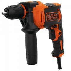 Black + Decker 550w Hammer Drill & Kitbox - BEH550K-GB