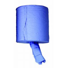 TT Blue Centre Feed 2 Ply Paper Roll 195mmx140m BLPR