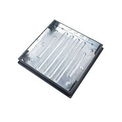 Clark Drain Galvanised Recessed Block Paving Manhole Cover & Frame 600x600x80mm 10 Tonne Gross Plated Weight