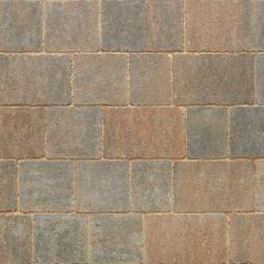 Stonemarket Trident Rumbled Concrete Block Paving-Burnt Ochre-160x160x50mm