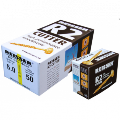 Box 200 Reisser R2 Cutter Yellow H/P Wood Screw 5.0x80mm