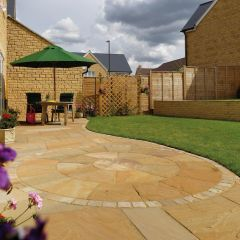 Buff Calibrated Sandstone Paving (22mm)
