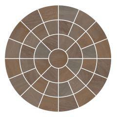 Raj Blend Circle Feature Paving Pack